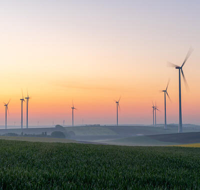 windmills-with-sunset